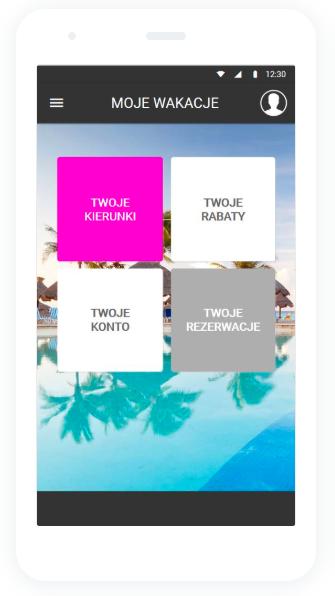 moje wakacje aplikacja ekran główny