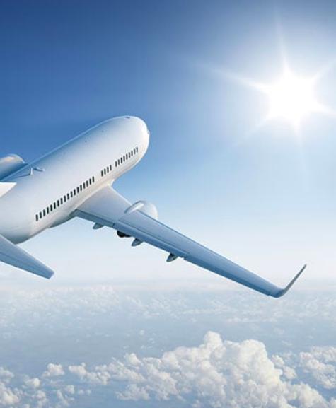 samolot niebo