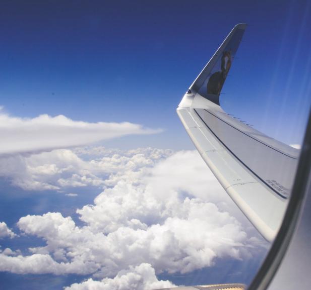 lot samolot niebo skrzydło