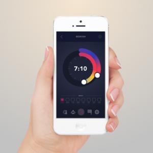 aplikacja reka zegar